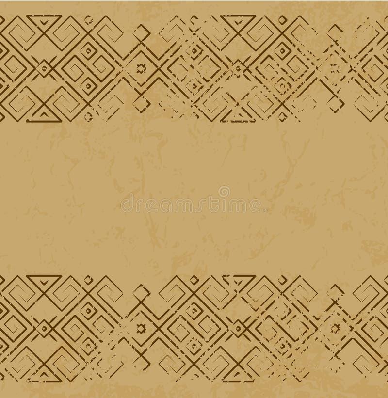 Dirigez le modèle mexicain antique affligé sur la dalle de marbre illustration libre de droits
