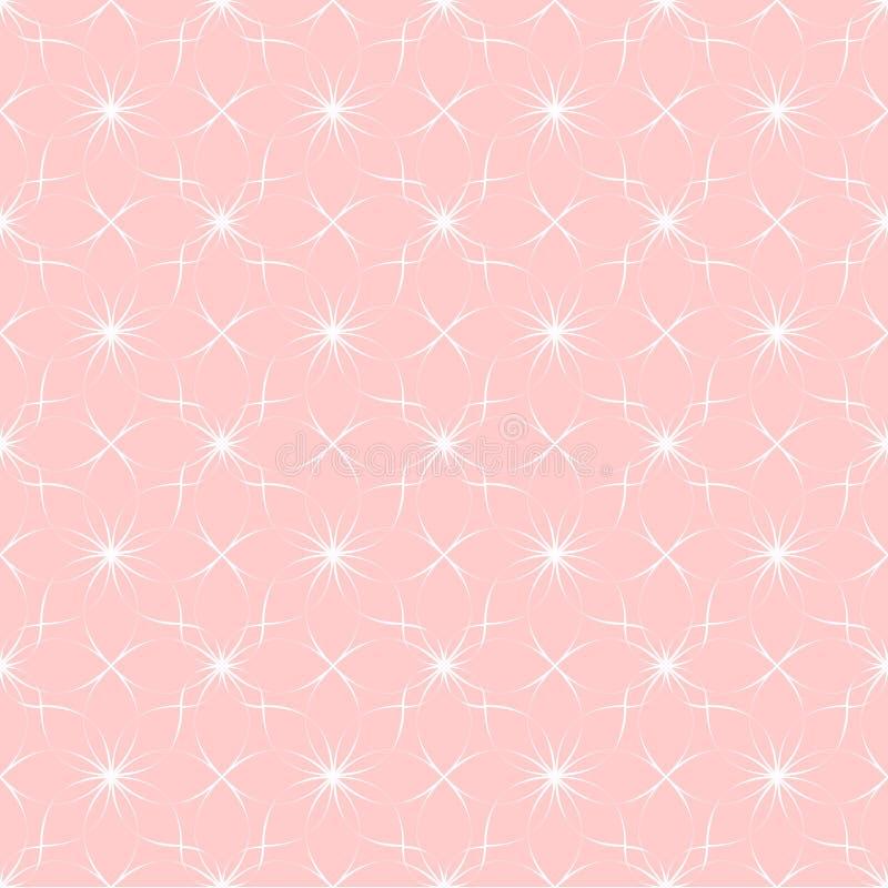 Dirigez le modèle rose géométrique abstrait avec l'ornement ethnique illustration stock