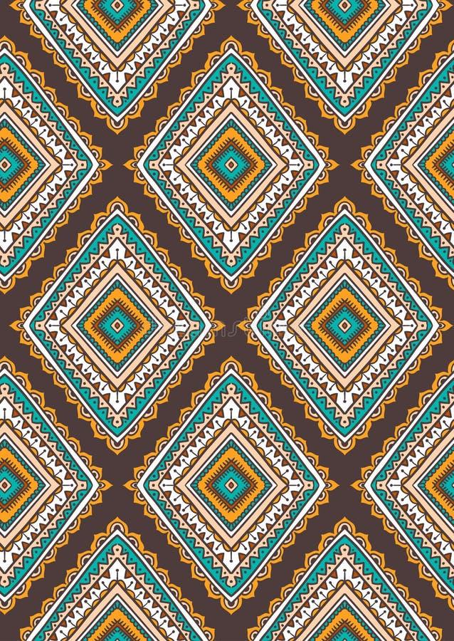 Dirigez le modèle sans couture avec les losanges ornementaux tribals ethniques illustration libre de droits