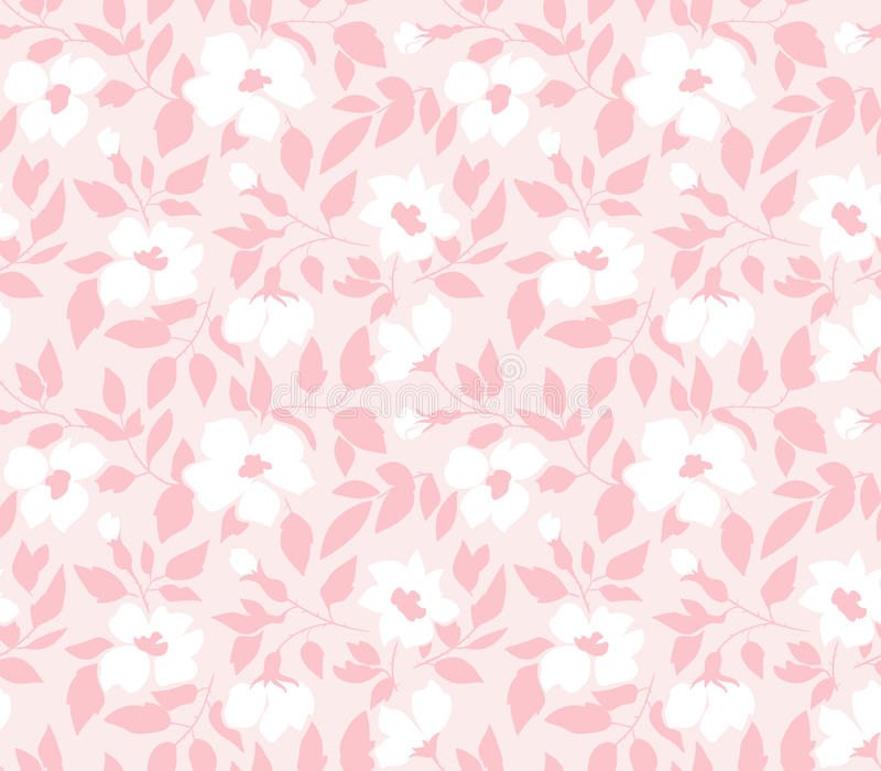 Dirigez le modèle sans couture avec les roses sauvages, style de vintage Conception tirée par la main de tissu illustration stock