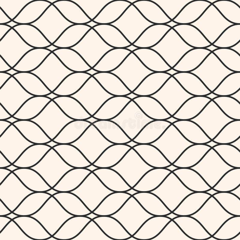 Dirigez le modèle sans couture, lignes onduleuses minces, texture subtile de maille illustration libre de droits