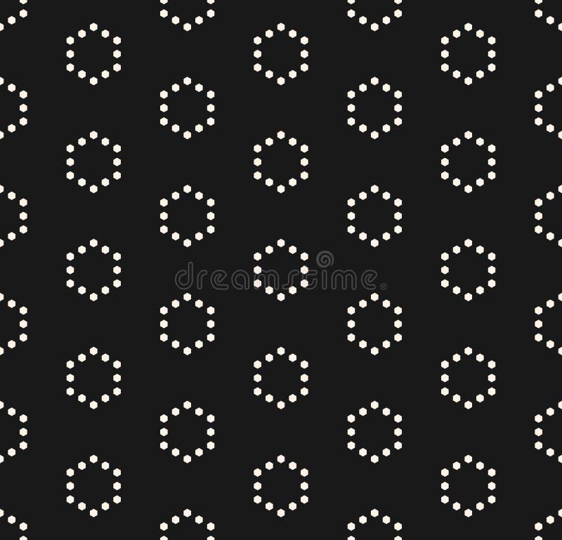 Dirigez le modèle sans couture minimaliste, esprit géométrique simple de texture illustration libre de droits