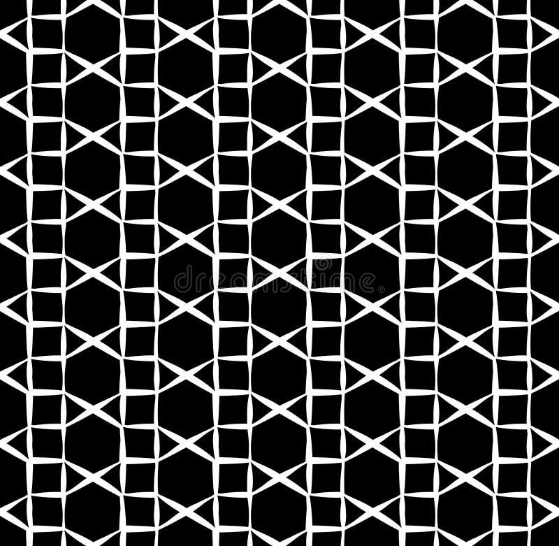 Dirigez le modèle sans couture moderne de la géométrie, résumé noir et blanc illustration libre de droits