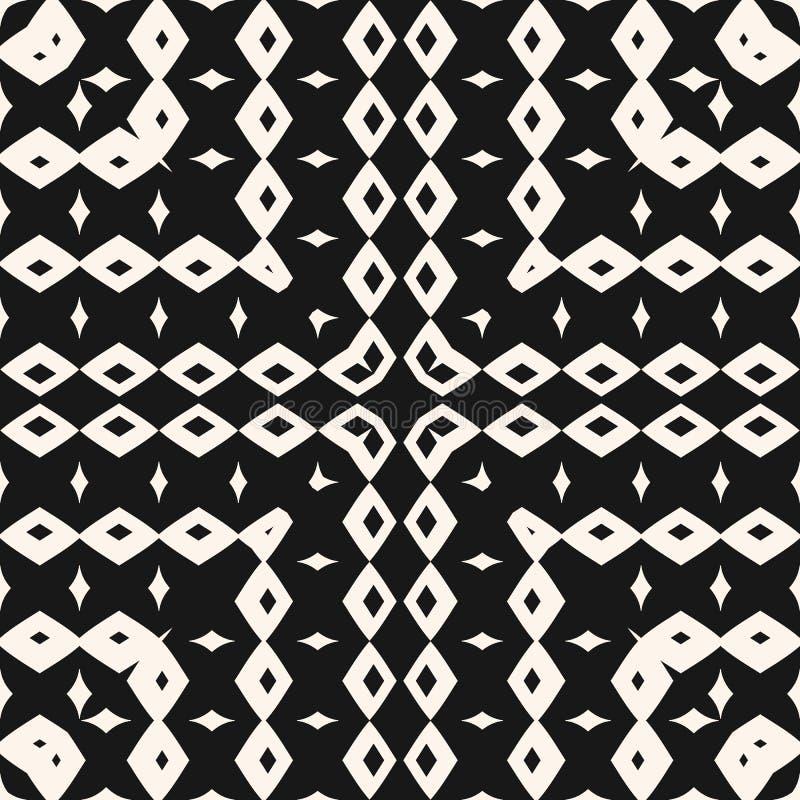 Dirigez le modèle sans couture ornemental avec les éléments géométriques, places, losanges illustration libre de droits