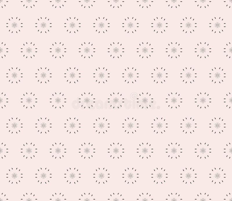Dirigez le modèle sans couture ornemental, fond minimaliste clair illustration stock
