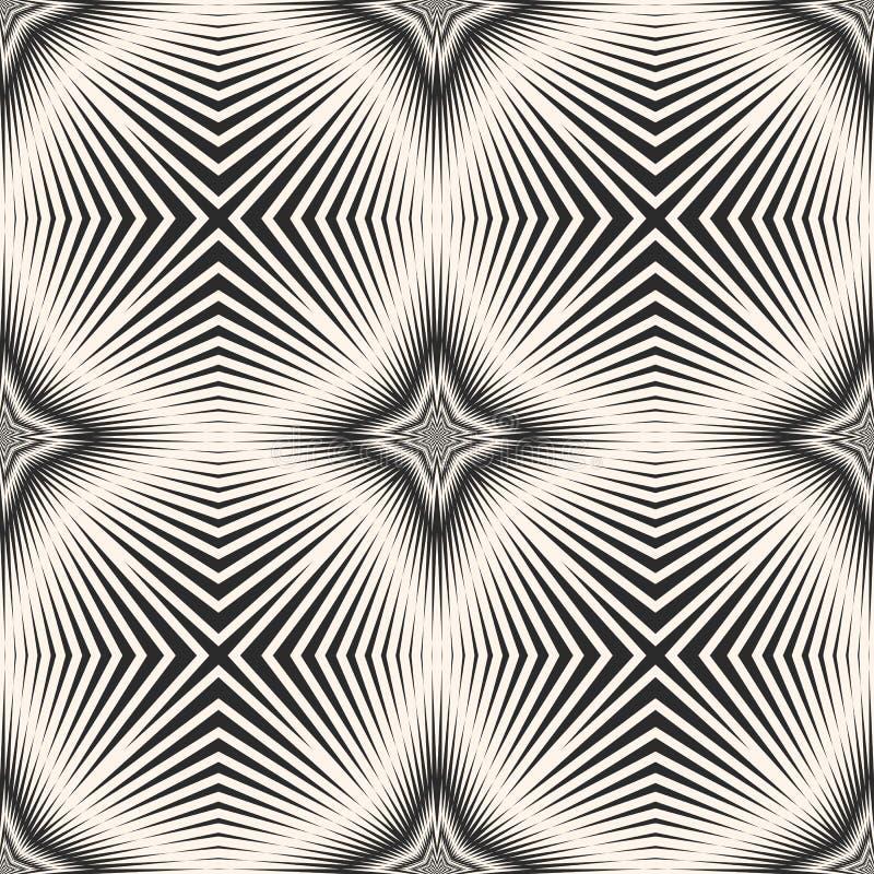 Dirigez le modèle sans couture rayé avec les lignes croisées diagonales, rayures, étoiles illustration libre de droits