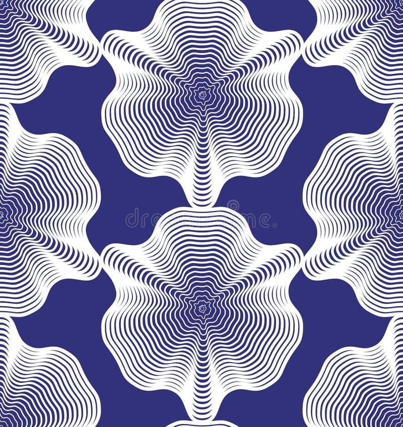 Dirigez le modèle sans fin rayé, backgrou géométrique continu d'art illustration libre de droits