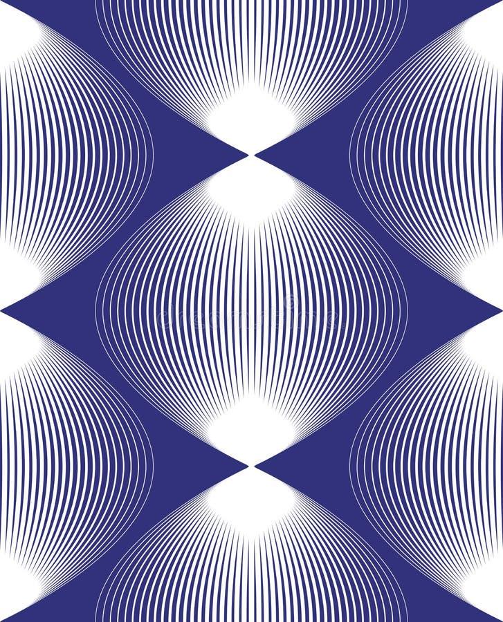 Dirigez le modèle sans fin rayé lumineux, l'art b géométrique continu illustration de vecteur