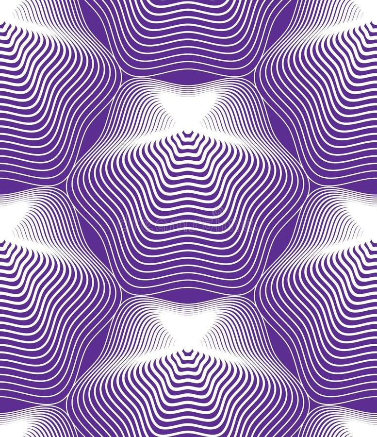 Dirigez le modèle sans fin rayé lumineux, l'art b géométrique continu illustration stock