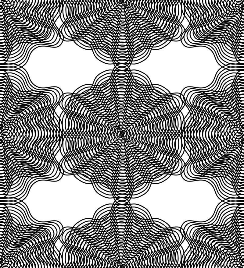 Dirigez le modèle sans fin trompeur rayé monochrome, continuou d'art illustration de vecteur