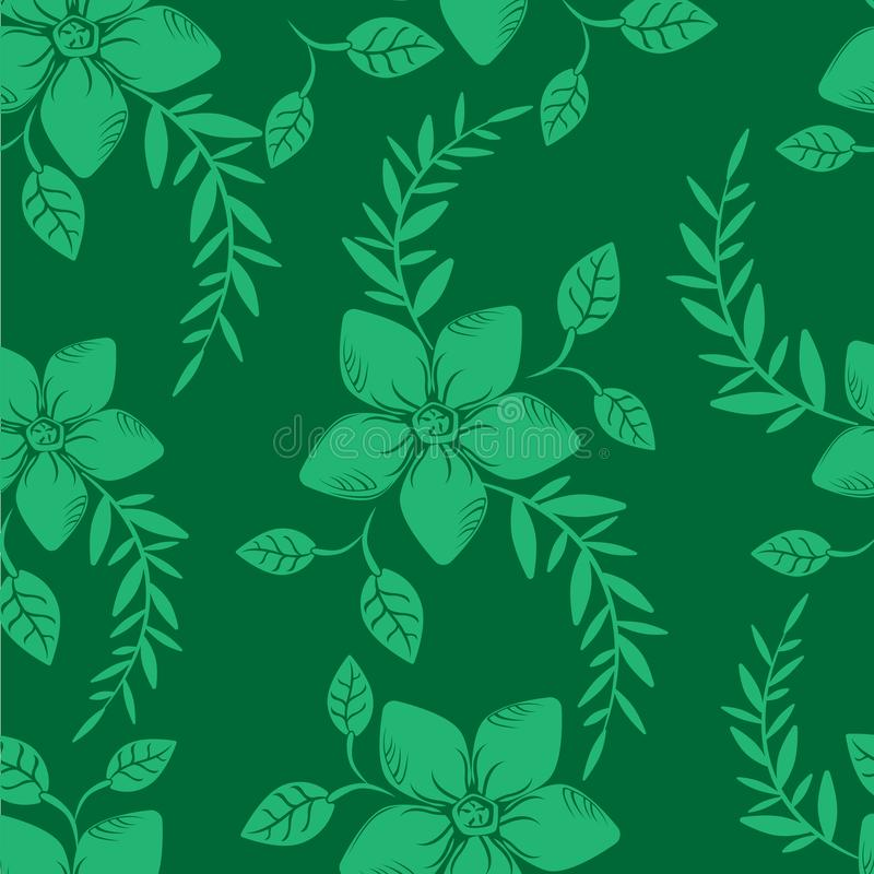 Dirigez le mod?le sans couture de fleurs abstraites de fond illustration stock