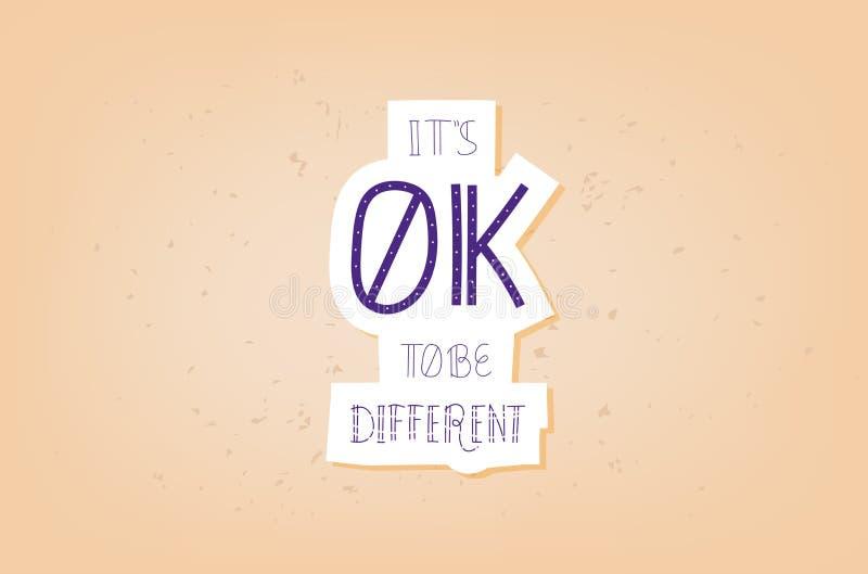 Dirigez-le ok du ` s pour être citation différente illustration de vecteur