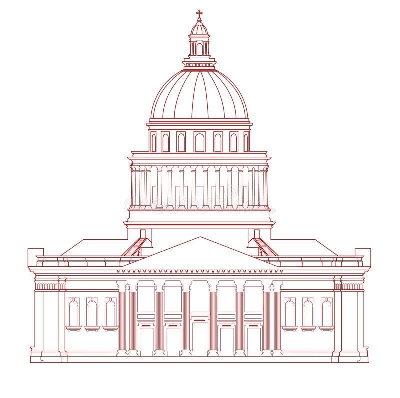 Dirigez le Panthéon (Paris) illustration stock