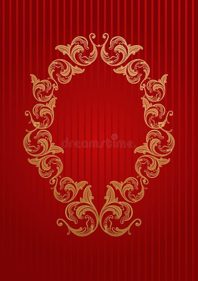 Dirigez le papier peint royal avec la trame florale illustration de vecteur