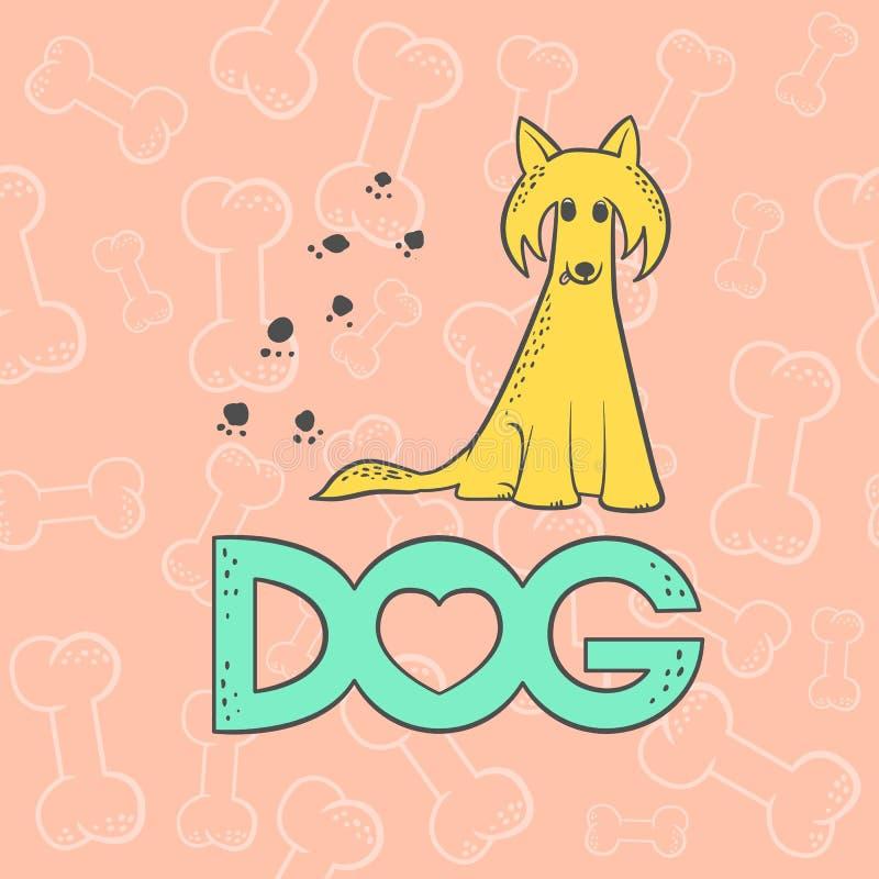 Dirigez le personnage de dessin animé drôle d'animal de caricature de chien crêté chinois Croquis coloré d'isolement par animal f illustration libre de droits