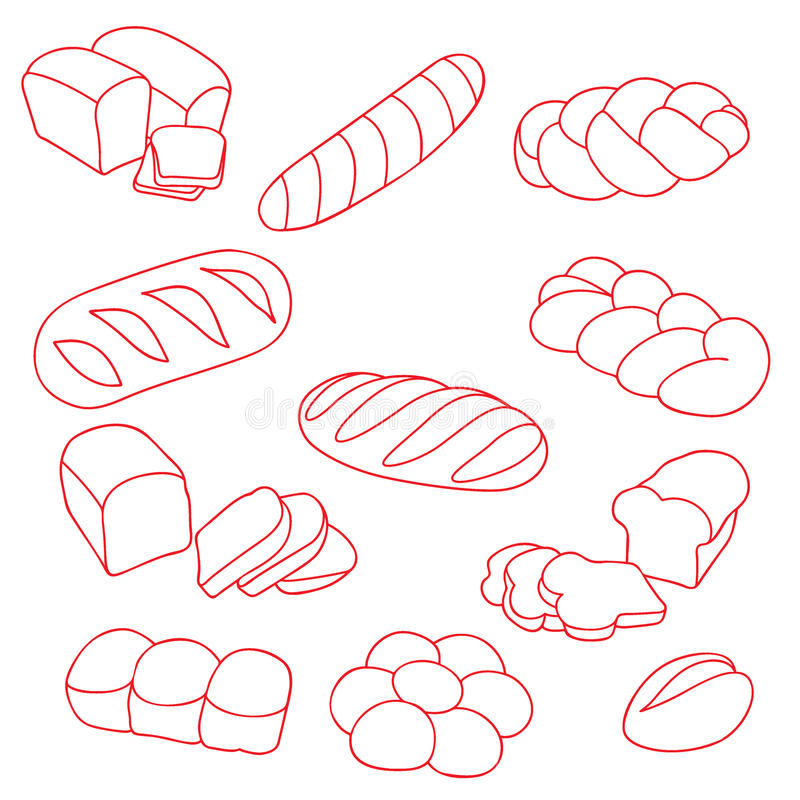Dirigez le ramassage de pains illustration de vecteur