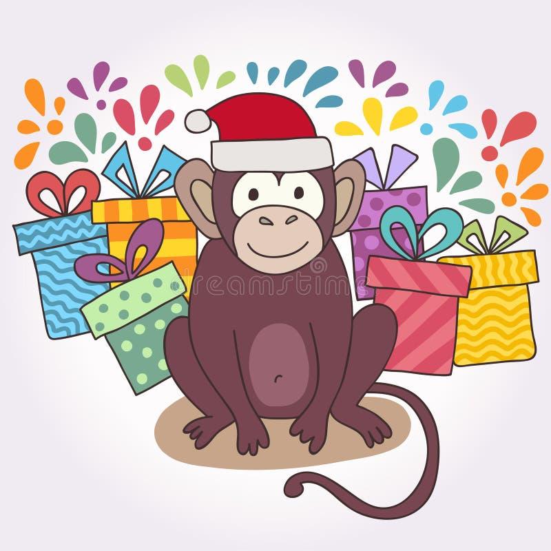 Dirigez le singe dr le singe heureux d 39 illustration pour - Le singe d aladdin ...