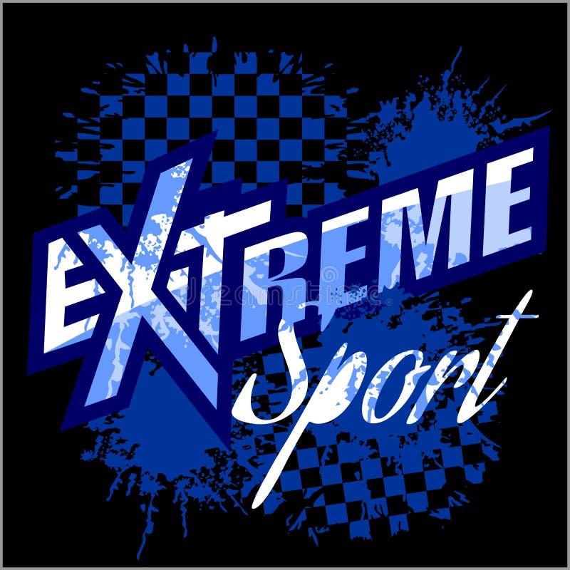 Dirigez le sport extrême - dirigez le logo pour le T-shirt illustration stock