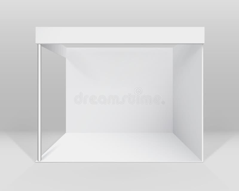 Dirigez le support standard de cabine commerciale d'intérieur vide blanche d'exposition pour la présentation illustration libre de droits