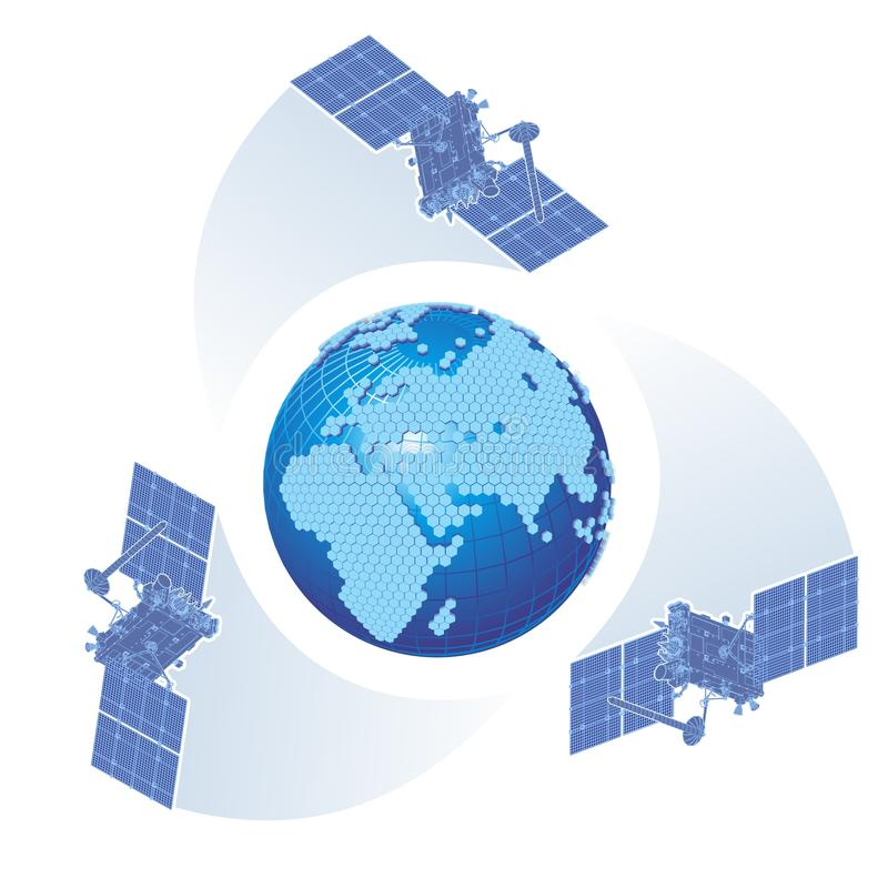 Dirigez le thème cellulaire-GPS illustration libre de droits