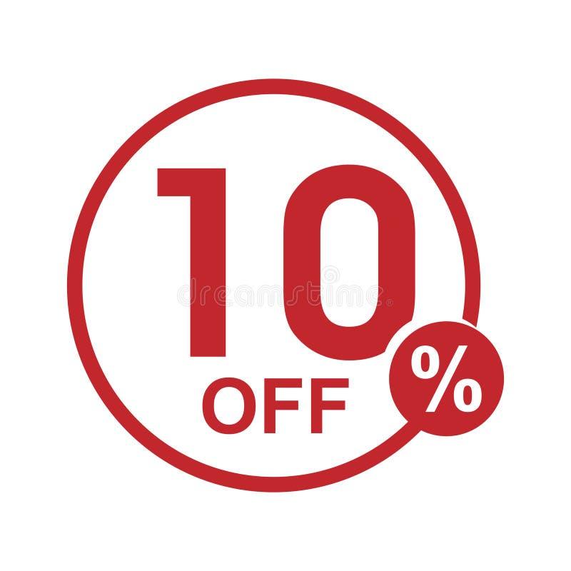 Dirigez le timbre rond 10% de remise plate minimaliste  illustration de vecteur