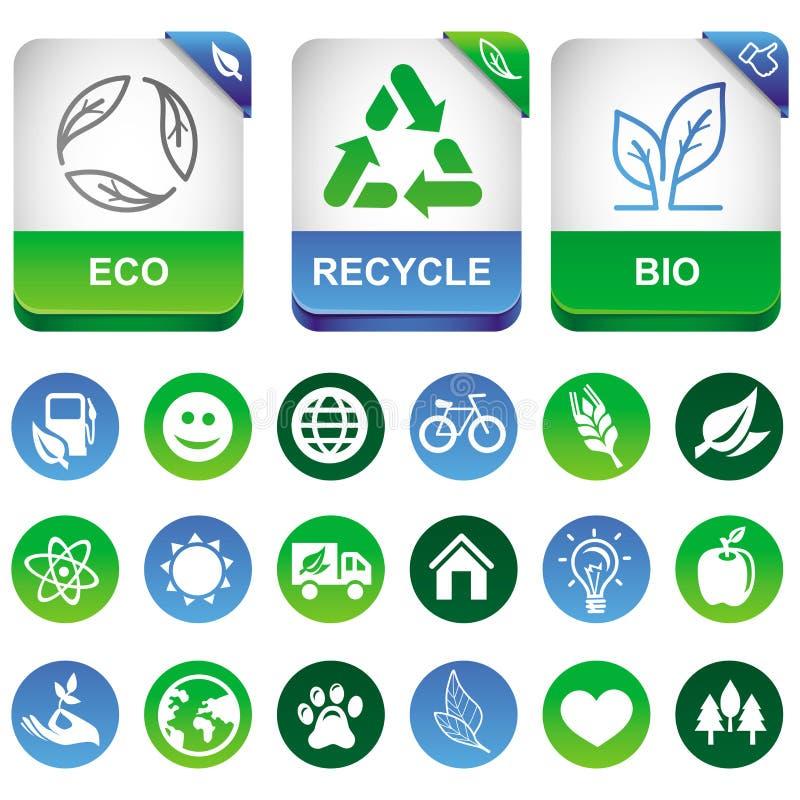 Dirigez les éléments d'infographics d'écologie illustration stock