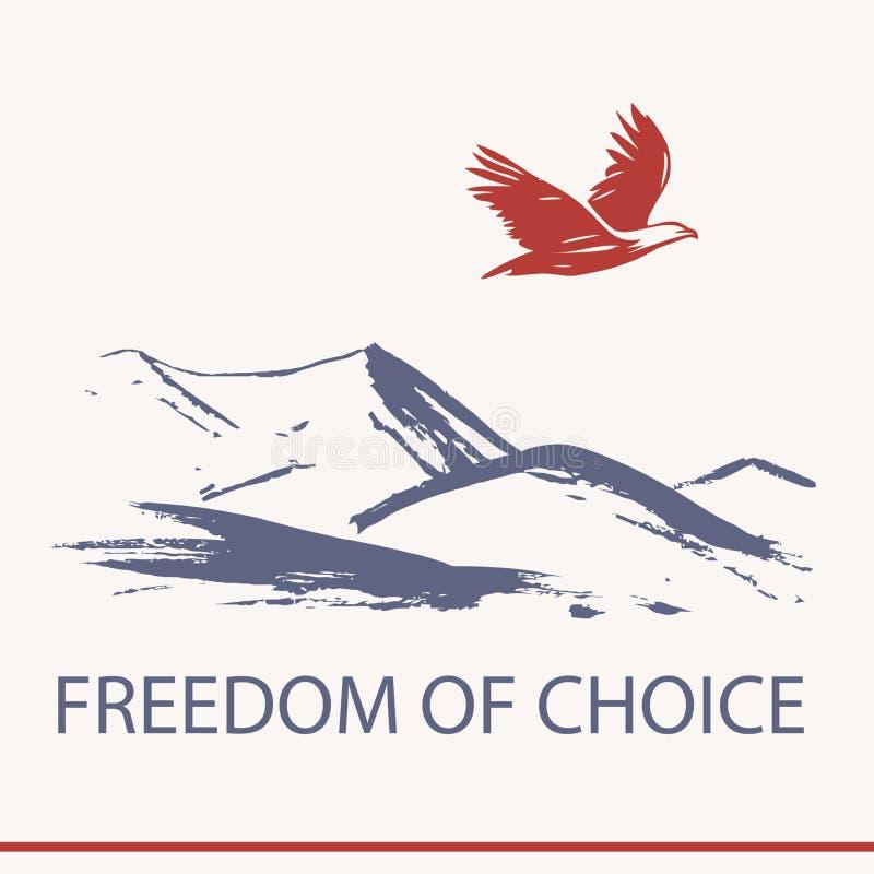 Dirigez les affaires de logo s'exerçant au sujet de la liberté de choix illustration stock