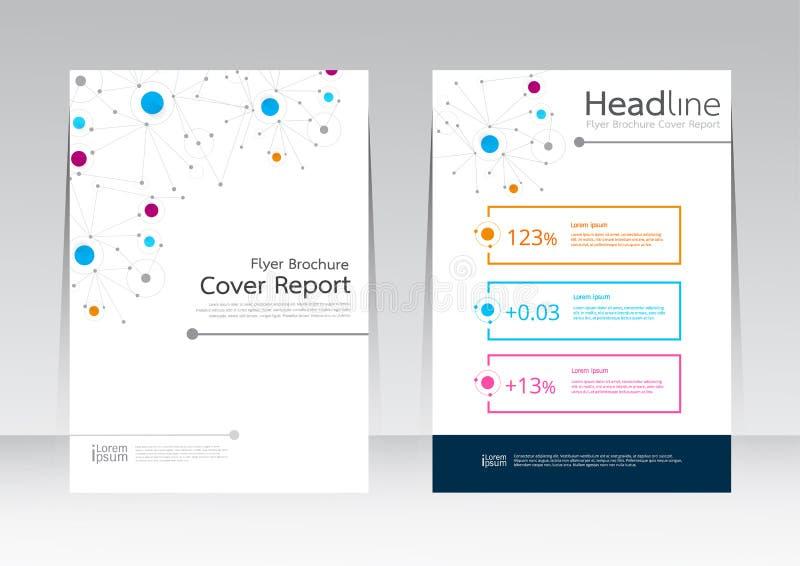 Dirigez les affaires de technologie de conception pour l'affiche d'insecte de brochure de rapport de couverture dans la taille A4 illustration libre de droits