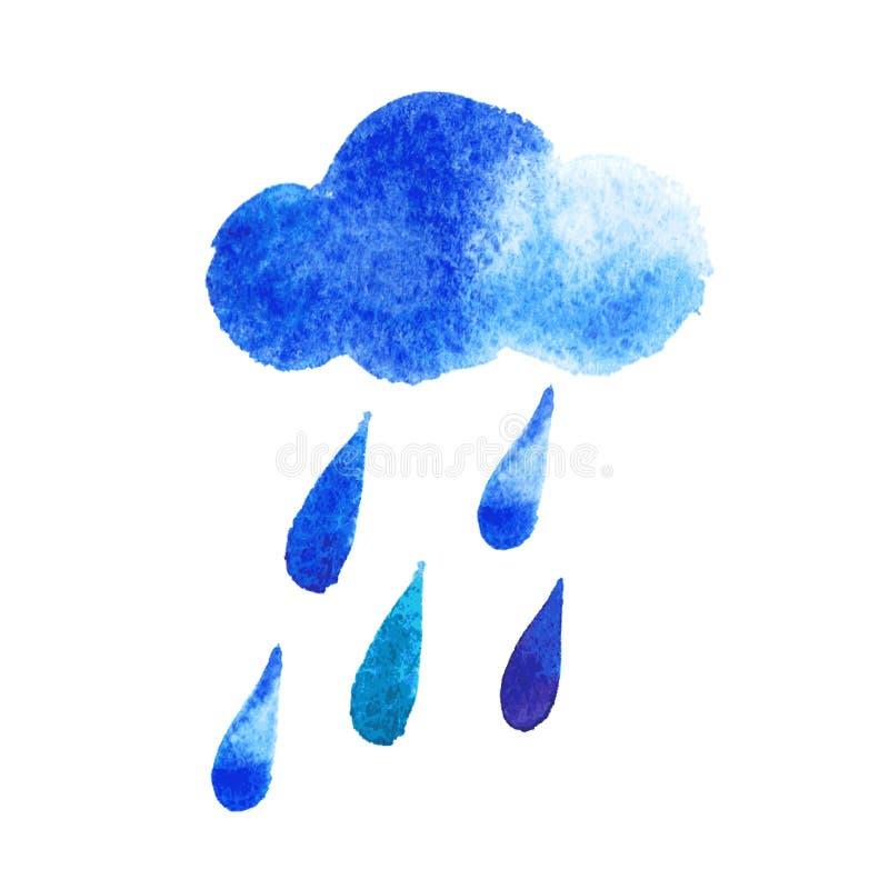 Dirigez les baisses de pluie d'aquarelle, fond sans couture avec stylisé illustration libre de droits