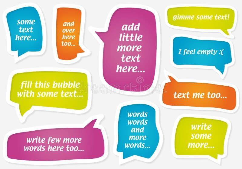 Dirigez les bulles en pastel de la parole illustration stock