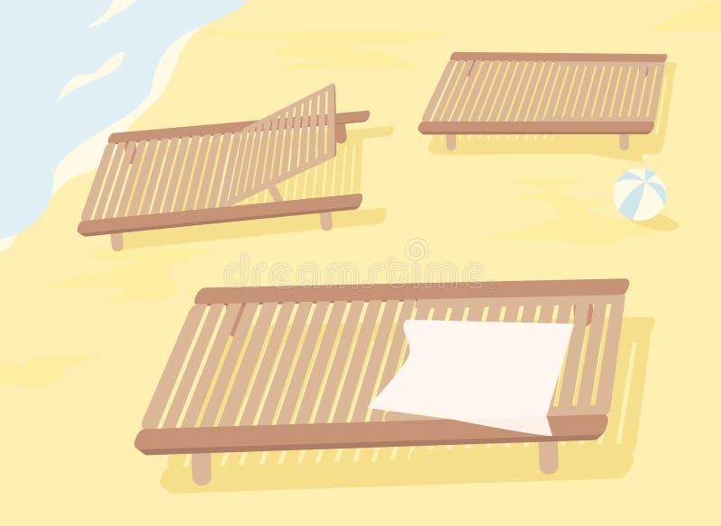 Dirigez les canapés du soleil pour votre conception, objets simly editable illustration stock