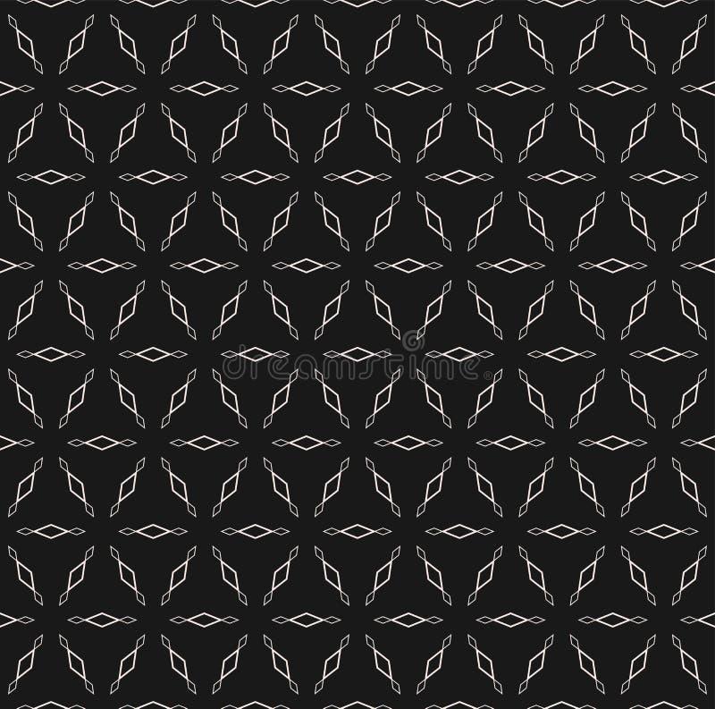 Dirigez les chiffres géométriques simples de modèle sans couture, losanges d'ensemble illustration de vecteur