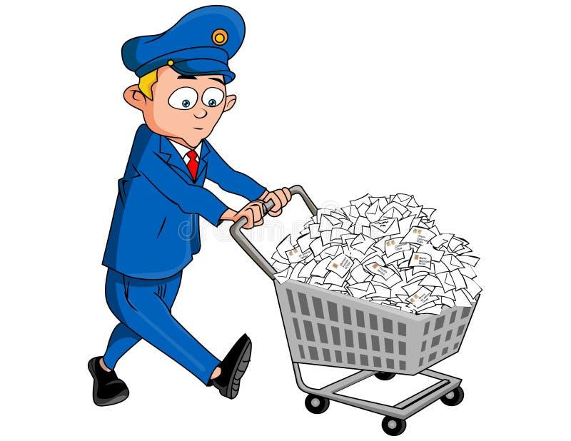 Dirigez - les dirigeants de courrier illustration libre de droits