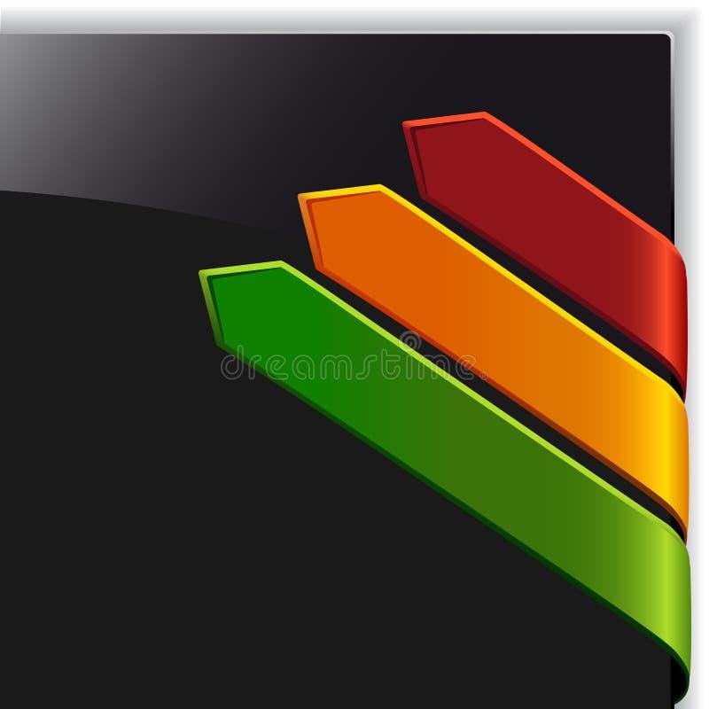 Dirigez les flèches de vente de couleur illustration de vecteur