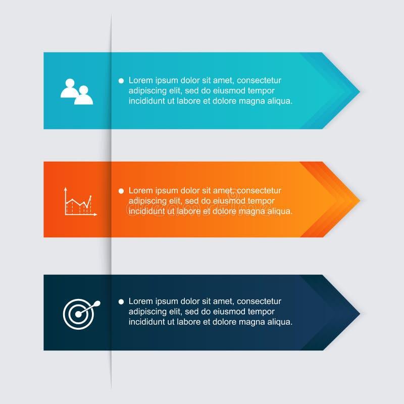 Dirigez les graphiques colorés d'infos pour vos présentations d'affaires illustration stock