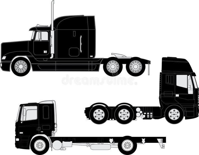 Troquez les silhouettes illustration stock