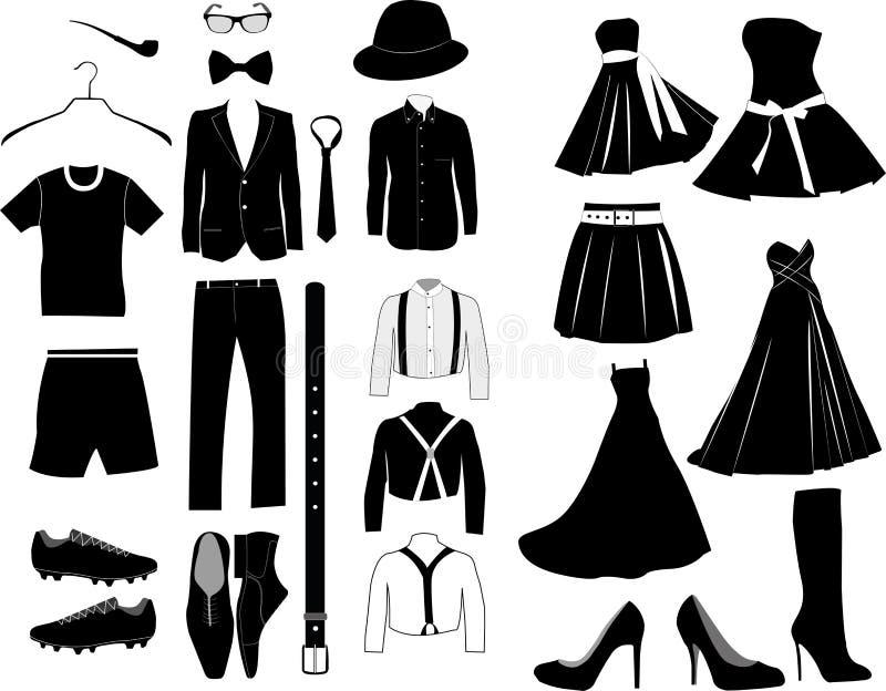 Vêtements de vecteur illustration libre de droits