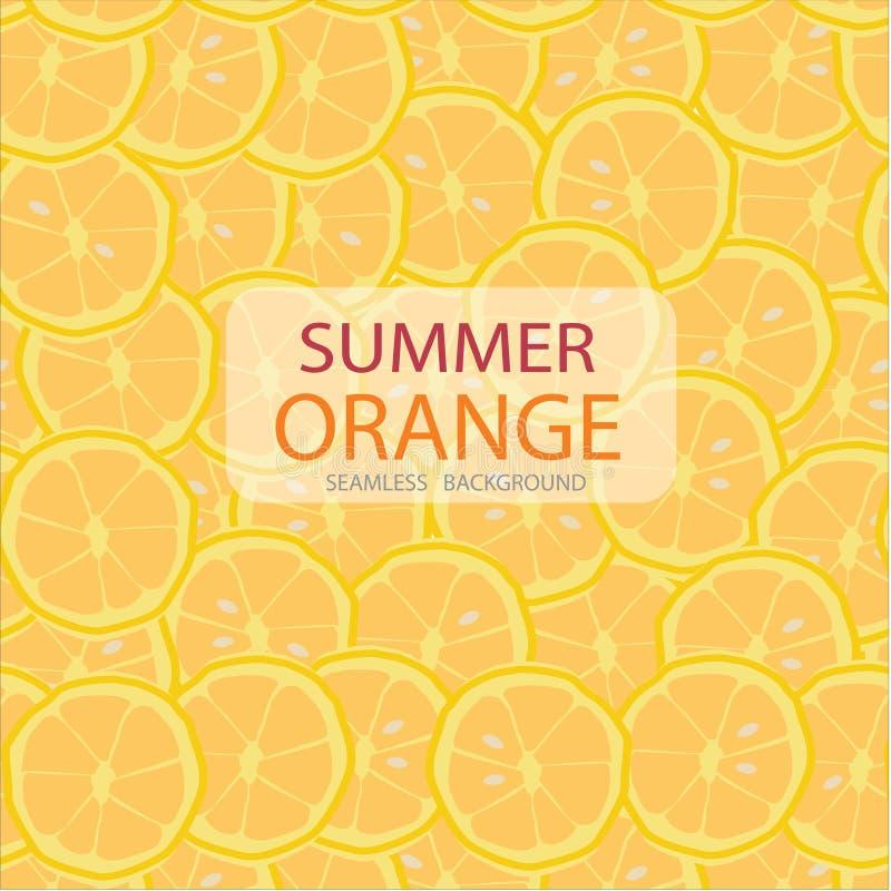 Dirigez les tranches de cercle de modèle orange, fond sans couture illustration libre de droits