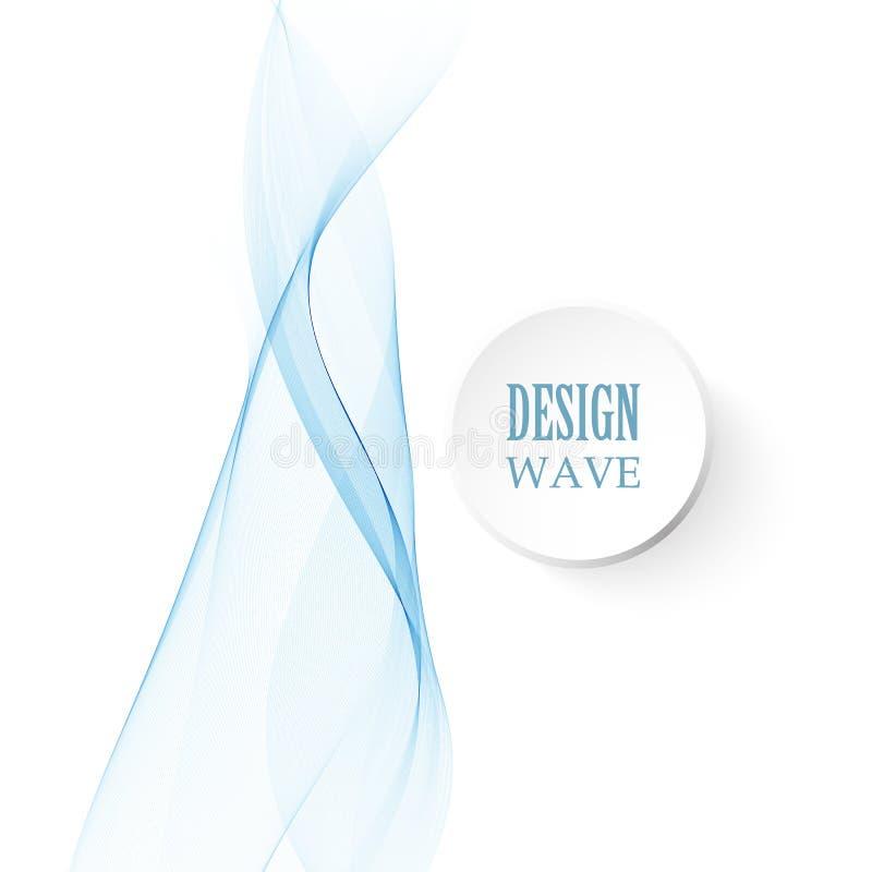Dirigez les vagues et les lignes bleues abstraites calibres de fond dans la conception verticale illustration stock
