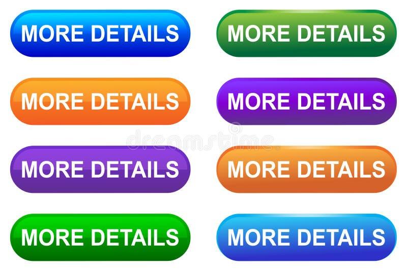 Dirigez plus de bouton de Web de détails illustration stock