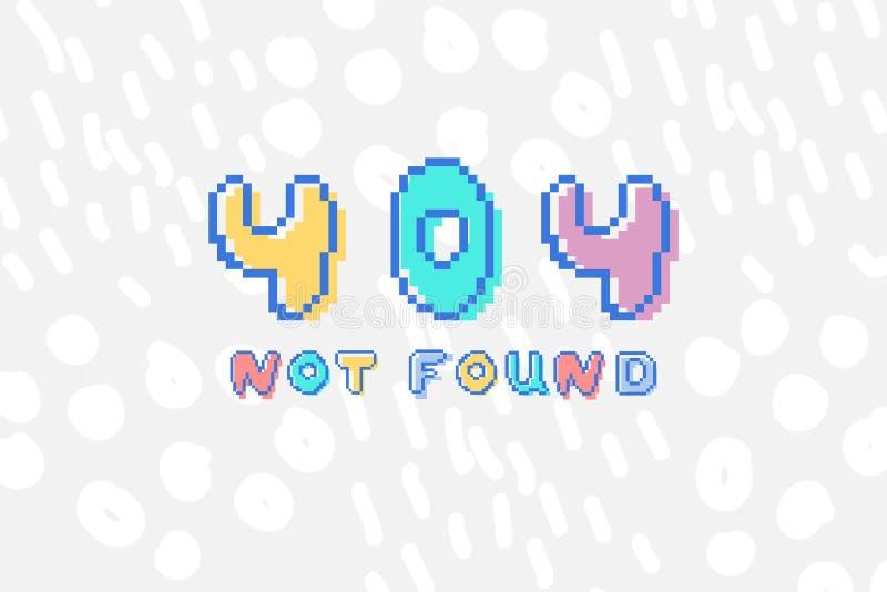 Dirigez 404 que l'erreur pas a trouvé l'expression dans le style mordu de l'art 8 de pixel illustration de vecteur