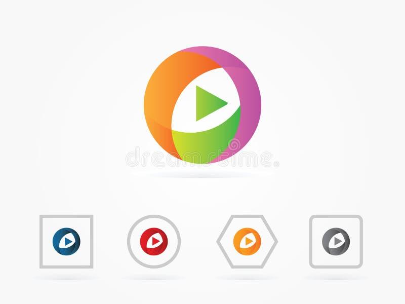 Dirigez symbole de navigation d'icône de flèche d'illustration le prochain en cercle illustration libre de droits