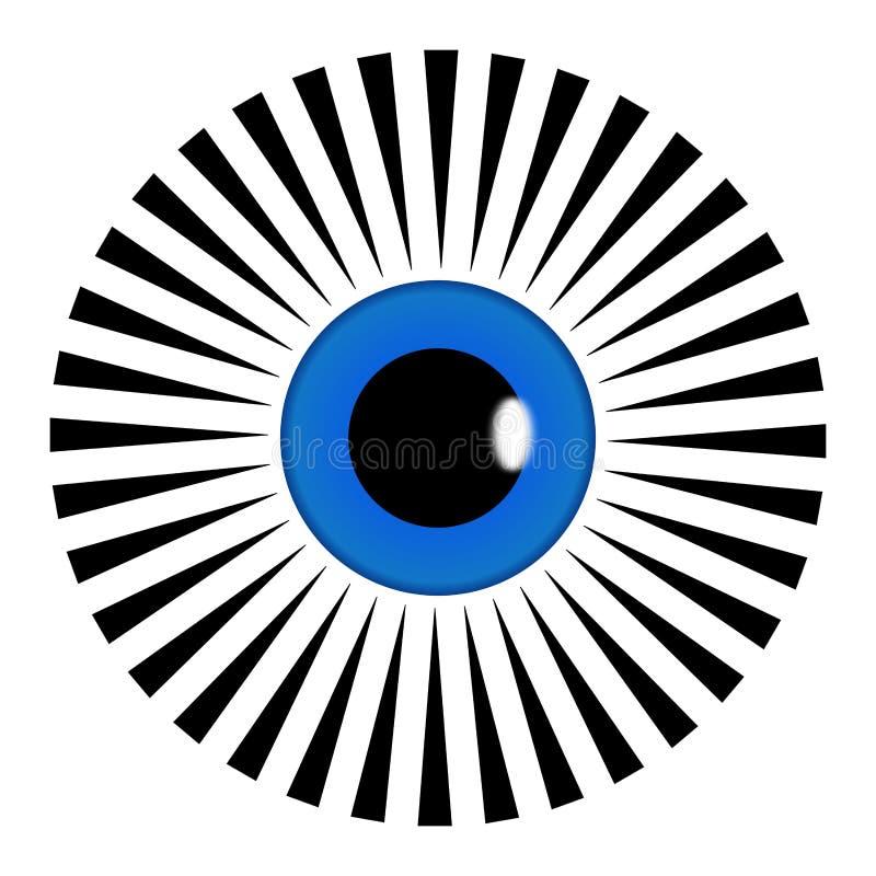 Dirigez tout le symbole voyant Mandala Illustration noire et blanche de pyramide d'oeil Décoration, Asiatique illustration de vecteur