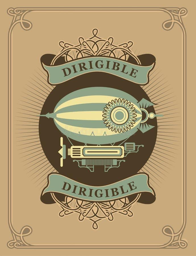 dirigible illustrazione vettoriale