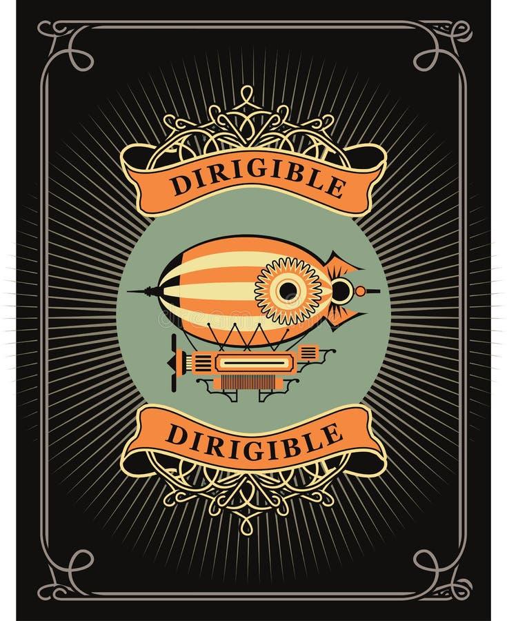 dirigible illustrazione di stock