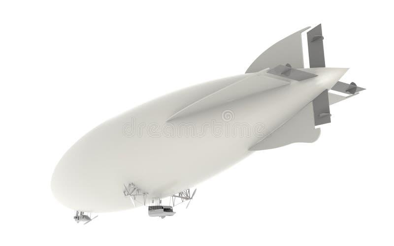 Dirigible del zepelín ilustración del vector