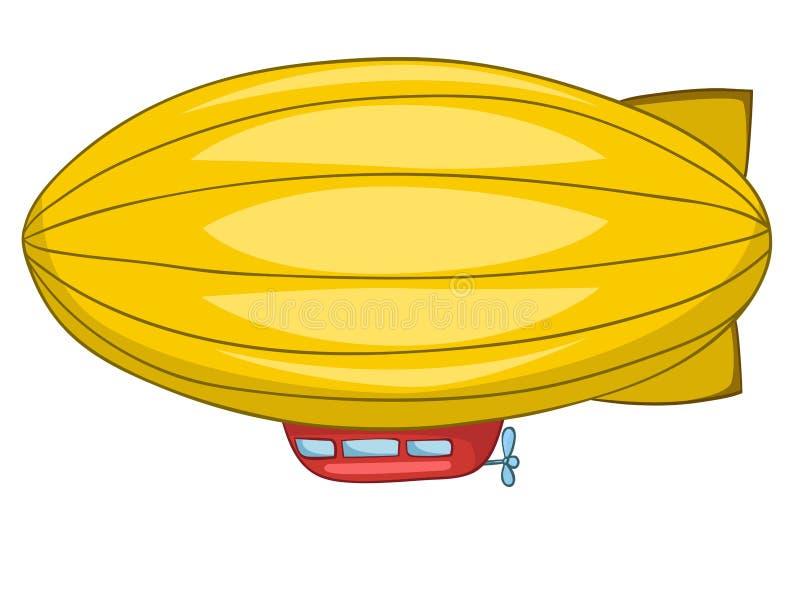 Dirigible dos desenhos animados ilustração do vetor