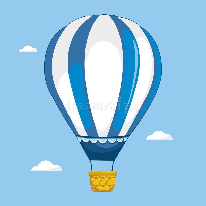 Dirigible en el cielo ilustración del vector