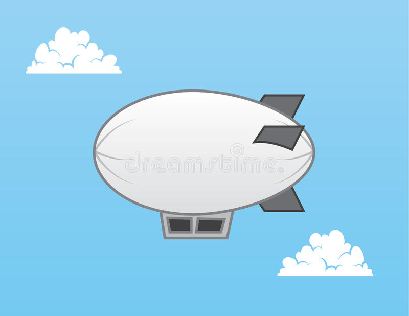 Dirigible no rígido del dirigible ilustración del vector