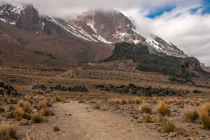 Download Dirigiendo A Lava Tower, Kilimanjaro Foto de archivo - Imagen de expedición, áfrica: 41905204